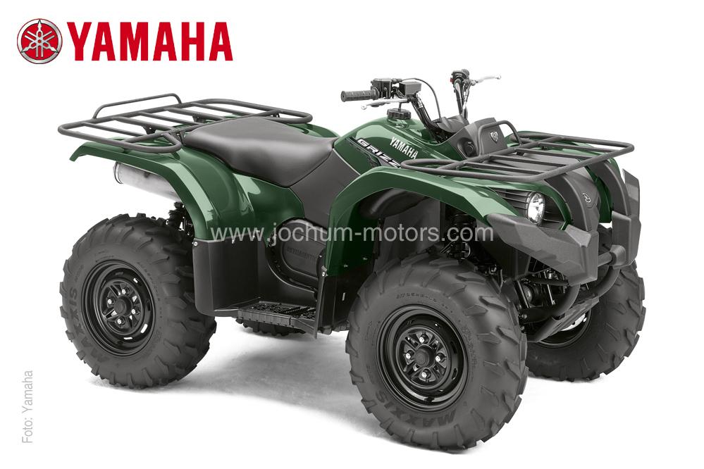 Das grüne Modell der Yamaha Grizzly YFM 450 EPS ist ein perfekter Wegbegleiter