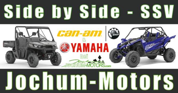 Side-by-Side-Fahrzeuge - SSV von Yamaha und Can-Am