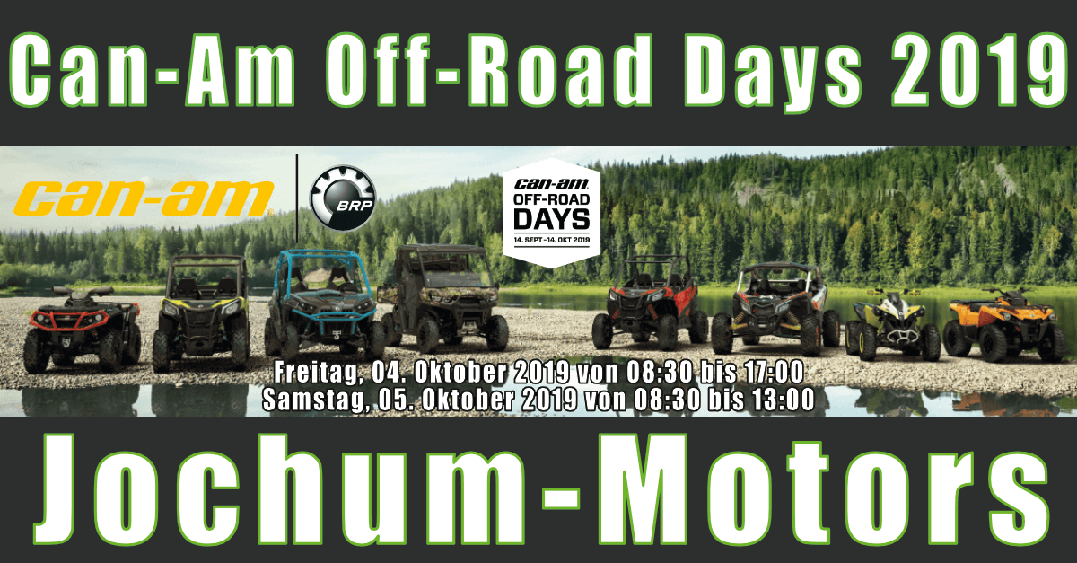 Can-Am Off-Road Days 2019 bei Jochum-Motors