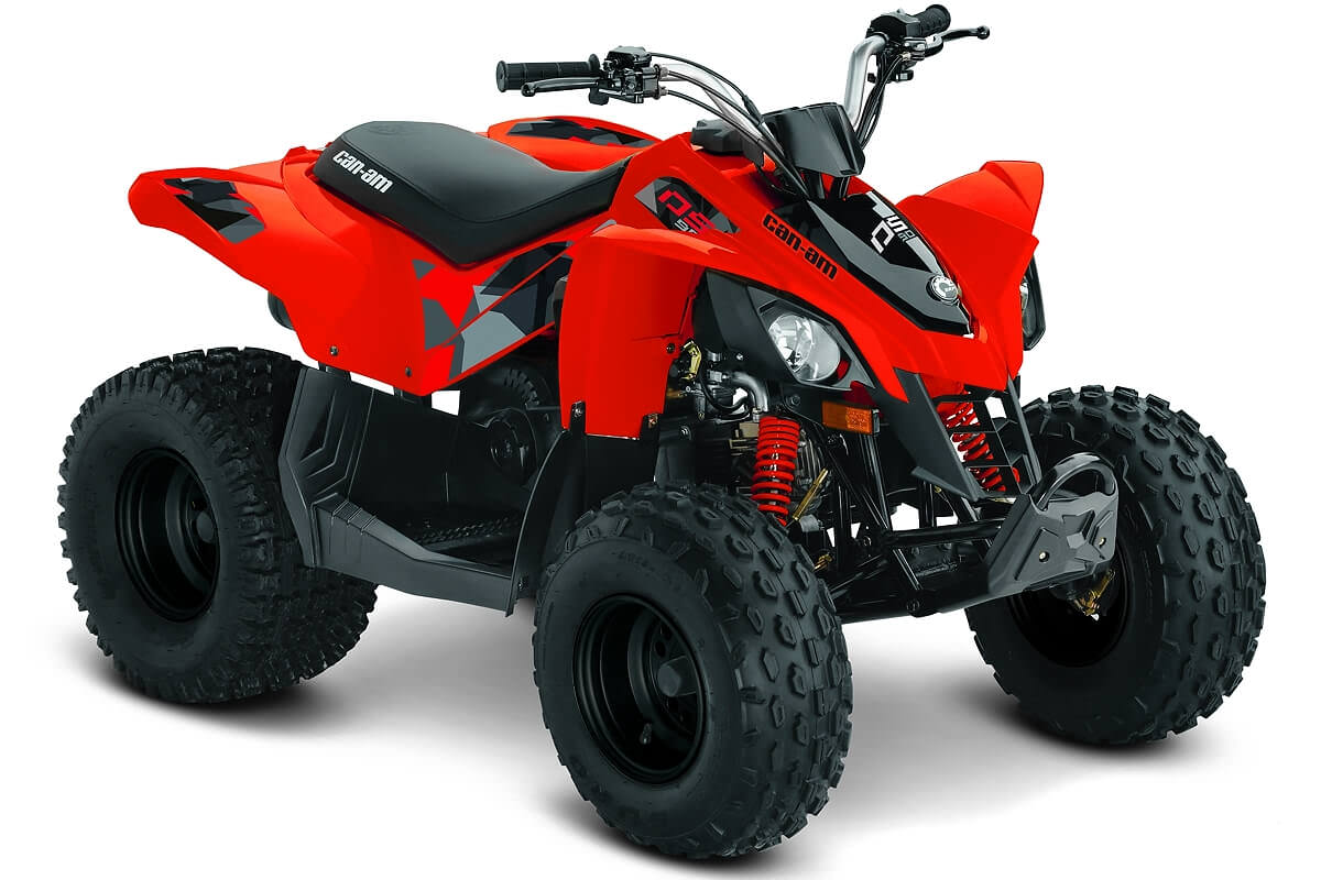 DS 90 ein ATV in Can-Am Red von Can-Am - Modelljahr 2020 - 0003CLB00