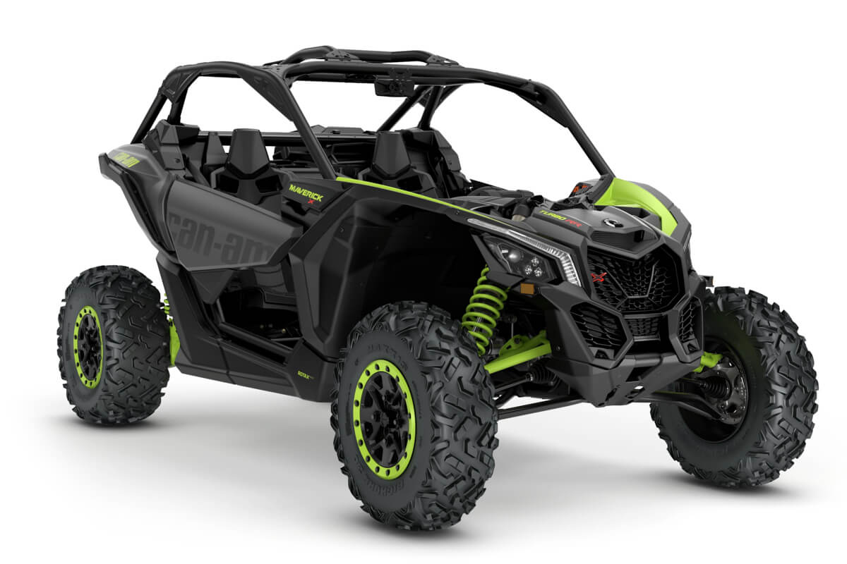Maverick X ds Turbo RR ein SSV in Iron Gray mit Manta Green von Can-Am - Modelljahr 2020 - 0007SLH00