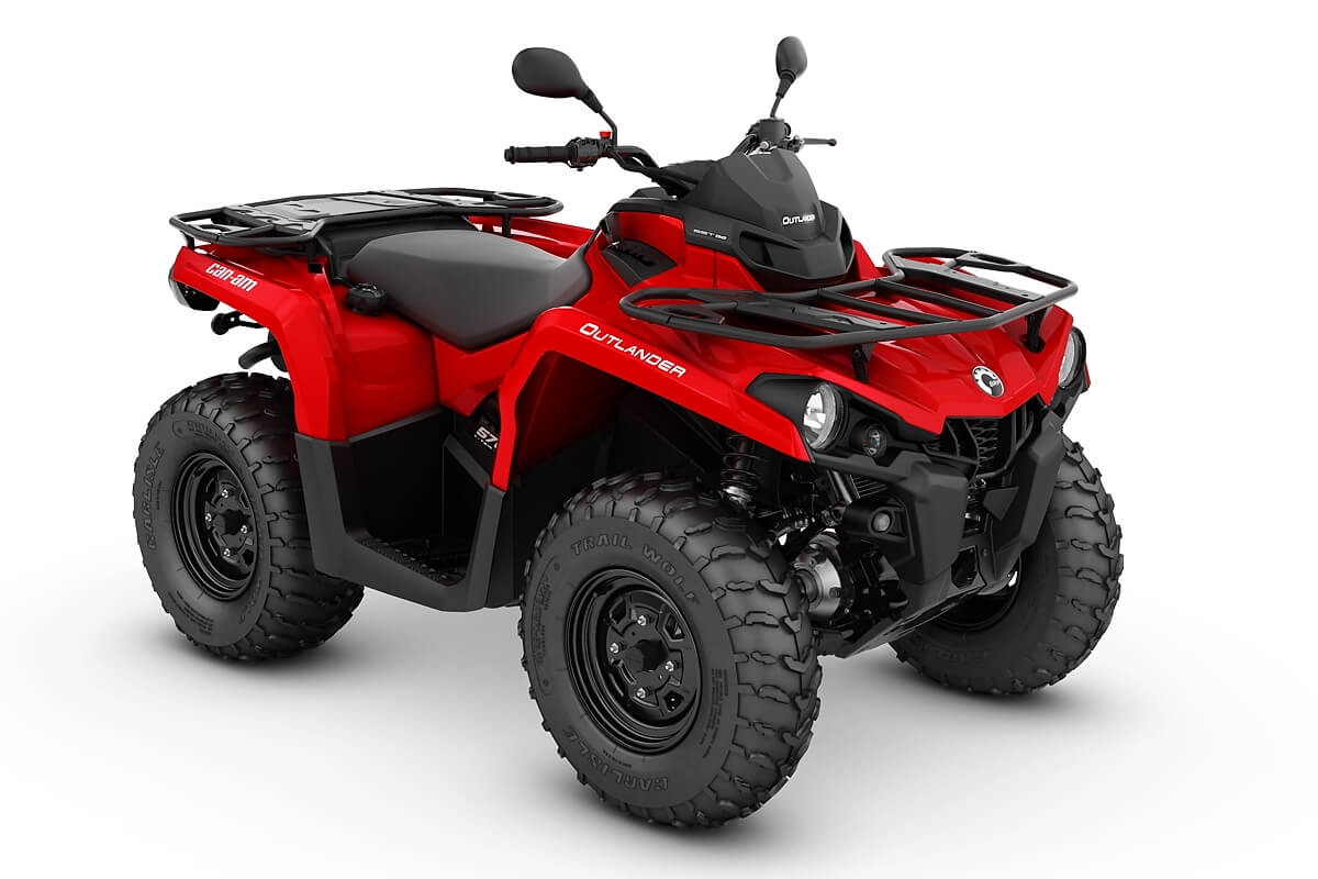 Outlander 570 T ein ATV in Viper Red von Can-Am - Modelljahr 2020 - 0004GLB00