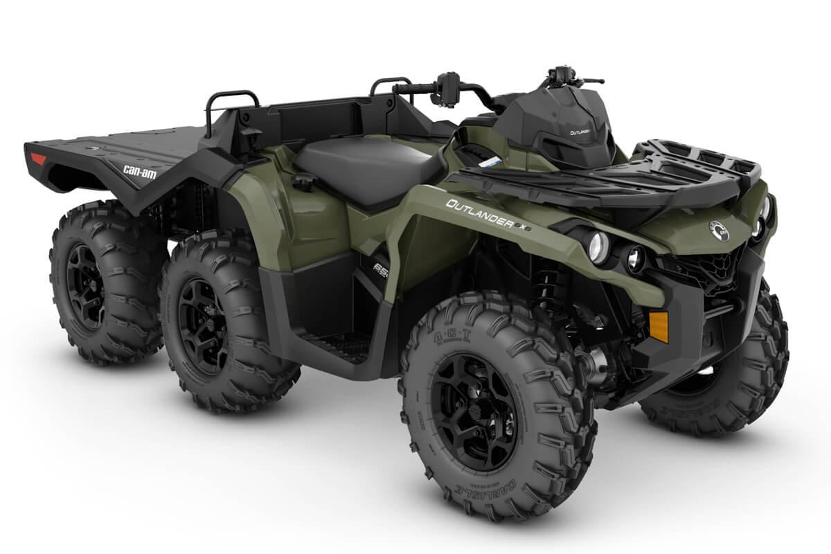 Outlander 650 6x6 DPS Flat Bed ein ATV in Green von Can-Am - Modelljahr 2020 - 0004RLB00