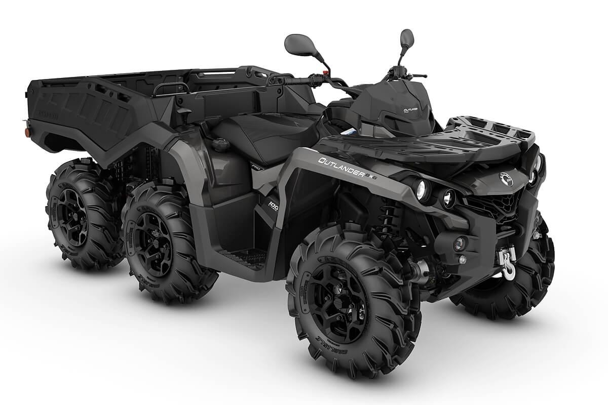 Outlander 1000 6x6 PRO+ Side Wall T ein ATV in Pure Magnesium Metallic von Can-Am - Modelljahr 2020 - 0004HLA00