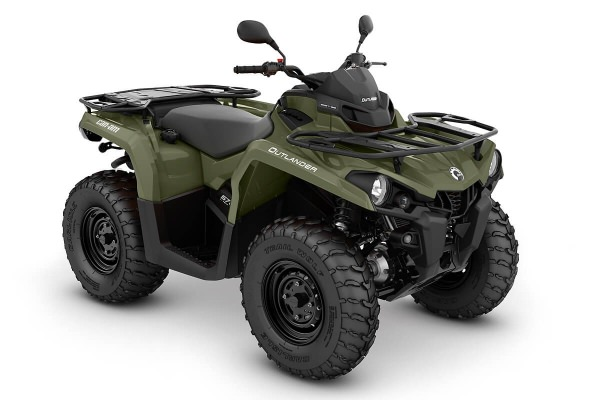 Outlander 570 DPS T ein ATV in Green von Can-Am - Modelljahr 2020 - 0004ALA00