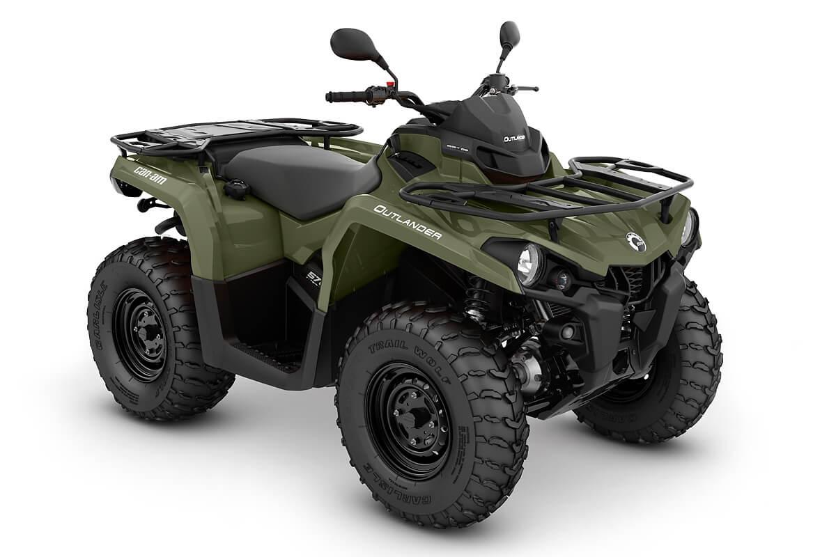 Outlander 570 DPS T ein ATV in Green von Can-Am - Modelljahr 2020 - 0004ALA00