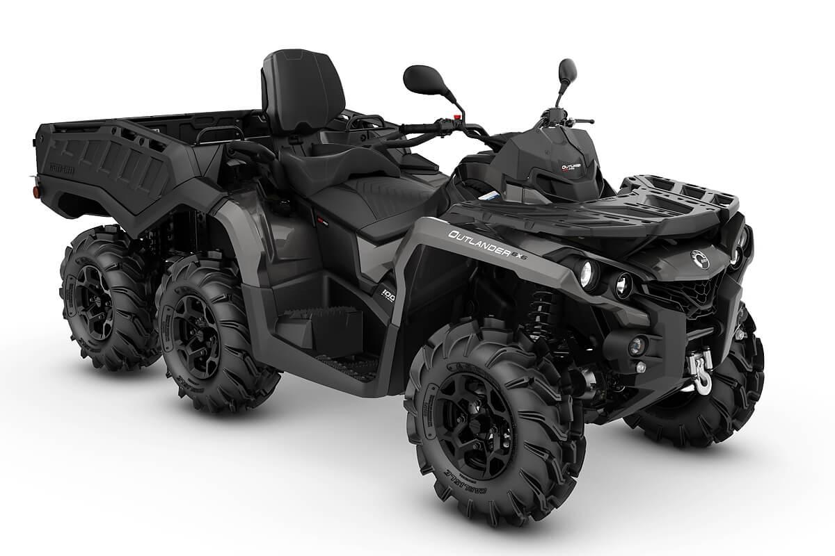 Outlander 1000 Max 6x6 PRO+ Side Wall T ein ATV in Pure Magnesium Metallic von Can-Am - Modelljahr 2020 - 0004LLA00