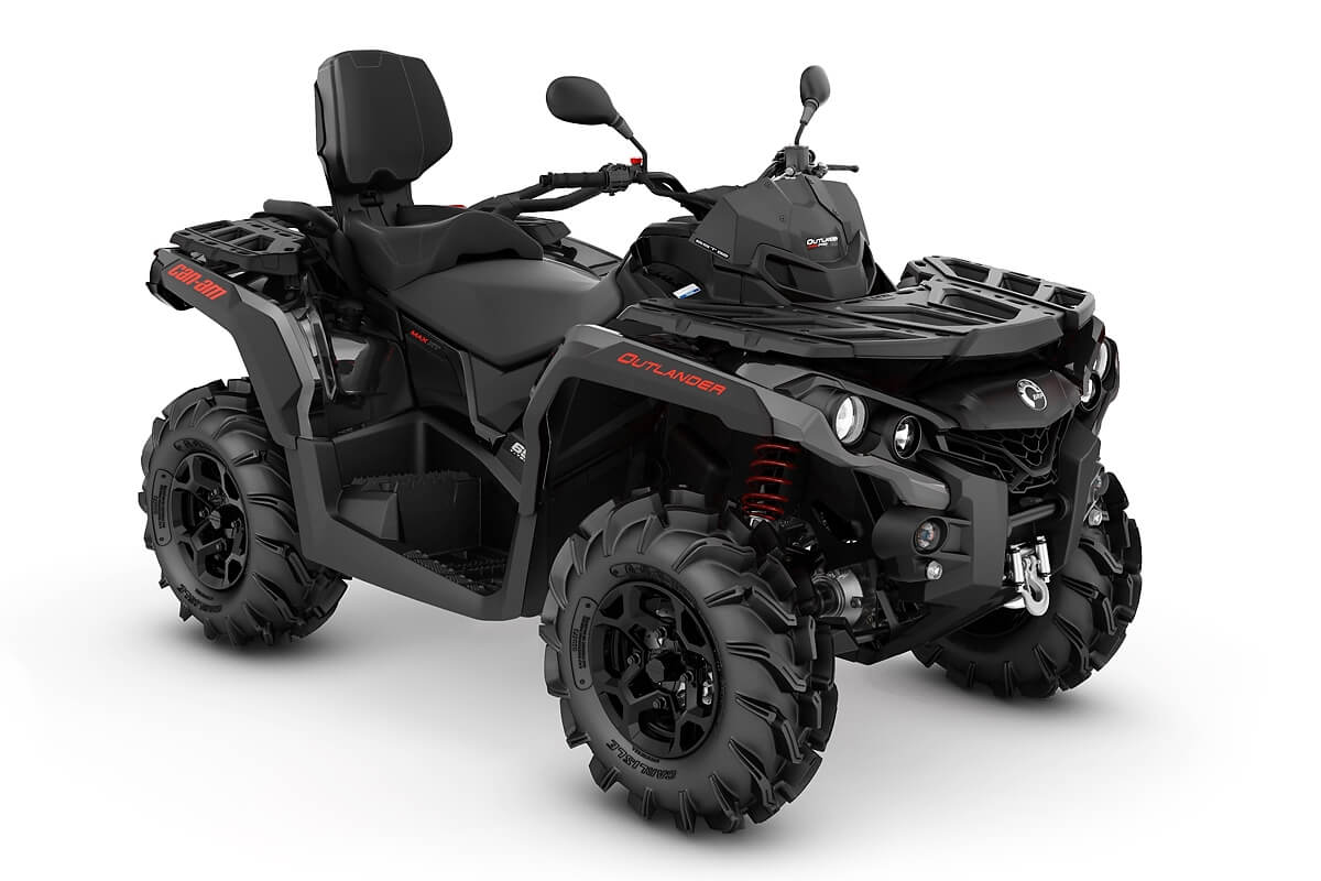 Outlander 650 Max PRO+ T ein ATV in Black mit Can-Am Red von Can-Am - Modelljahr 2020 - 0003TLA00