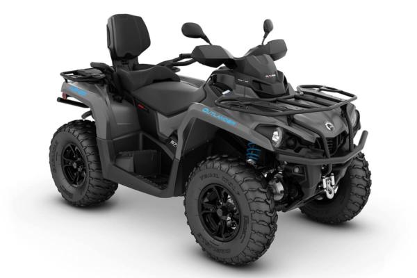 Outlander 570 Max XT T ein ATV in Iron Gray mit Octane Blue von Can-Am - Modelljahr 2020 - 0002ZLB00