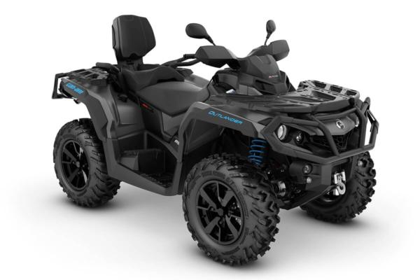 Outlander 650 Max XT ein ATV in Iron Gray mit Octane Blue von Can-Am - Modelljahr 2020 - 0002SLK00