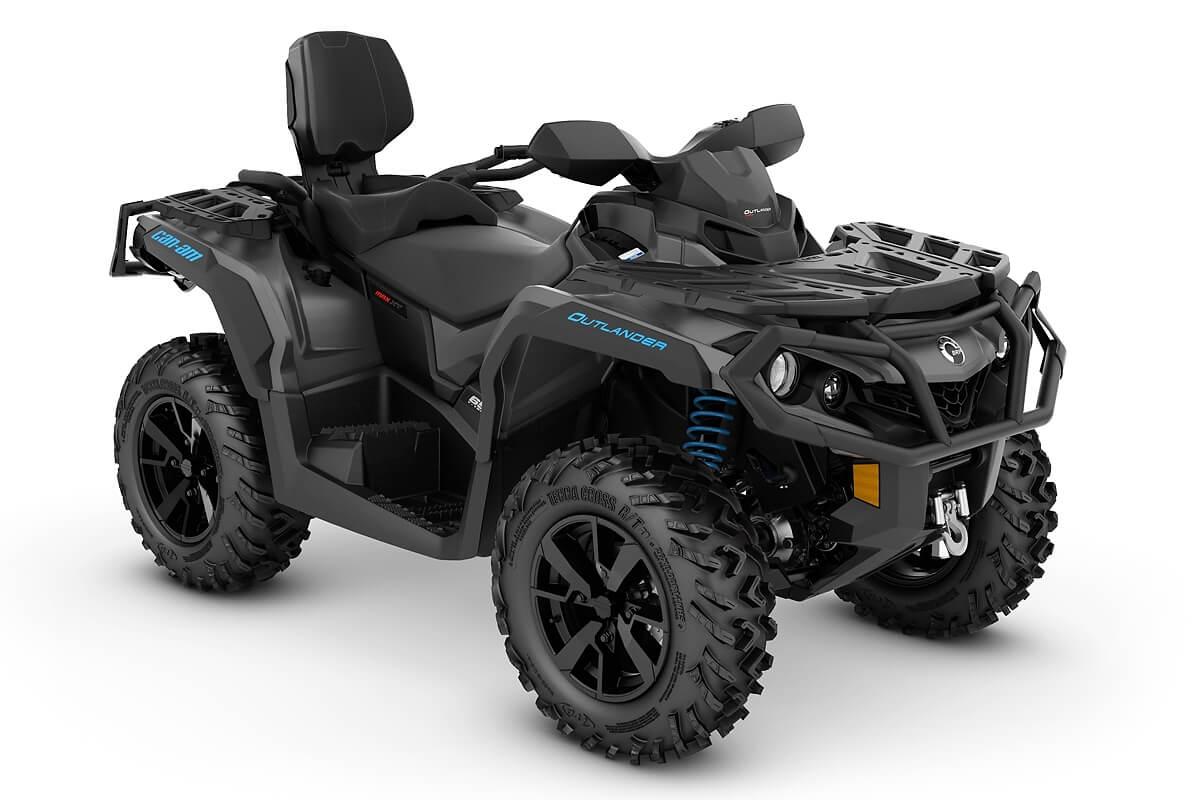 Outlander 650 Max XT T ein ATV in Iron Gray mit Octane Blue von Can-Am - Modelljahr 2020 - 0002SLM00