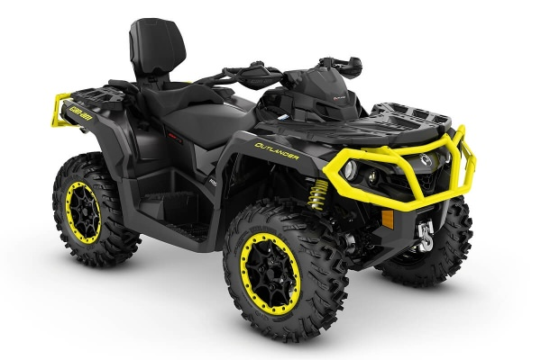 Outlander 1000R Max XT-P ein ATV in Carbon Black mit Sunburst Yellow von Can-Am - Modelljahr 2020 - 0005JLD00