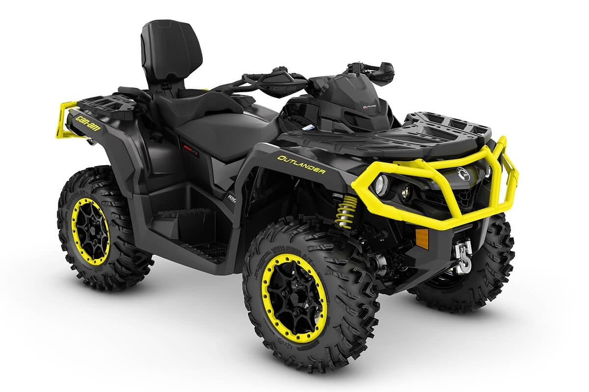 Outlander 1000R Max XT-P ein ATV in Carbon Black mit Sunburst Yellow von Can-Am - Modelljahr 2020 - 0005JLD00