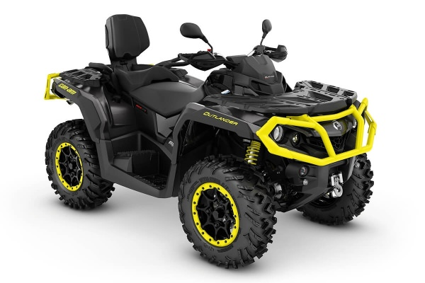 Outlander 650 Max XT-P T ein ATV in Carbon Black mit Sunburst Yellow von Can-Am - Modelljahr 2020 - 0003DLA00