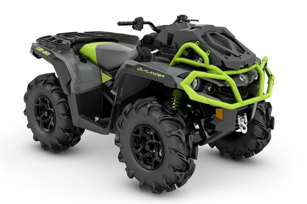 Outlander 650 X mr ein ATV in Granit Gray mit Black & Manta Green von Can-Am - Modelljahr 2020 - 0005ELB00