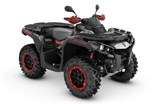 Outlander 1000 X xc T ein ATV in Black mit Hyper Silver & Can-Am Red von Can-Am - Modelljahr 2020 - 0001ULA00