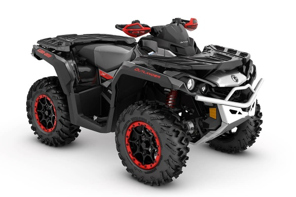Outlander 1000R X xc ein ATV in Black mit Hyper Silver & Can-Am Red von Can-Am - Modelljahr 2020 - 0001XLB00