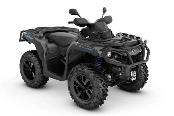 Outlander 650 XT T ein ATV in Iron Gray mit Octane Blue von Can-Am - Modelljahr 2020 - 0002PLH00