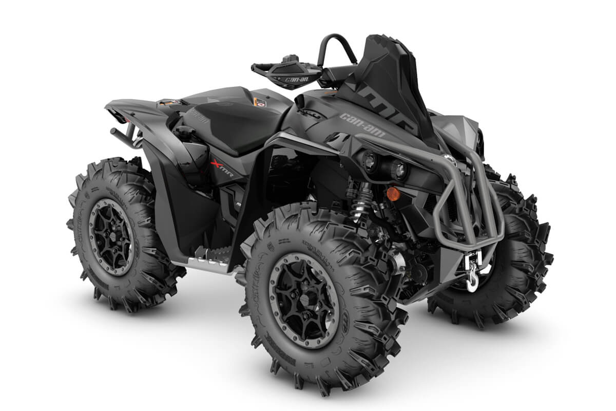 Renegade 1000R X mr ein ATV in Black mit Platinum Silver von Can-Am - Modelljahr 2020 - 0004FLD00