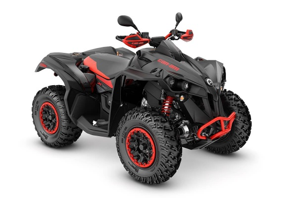 Renegade 1000 X xc T ein ATV in Black mit Can-Am Red von Can-Am - Modelljahr 2020 - 0005MLB00