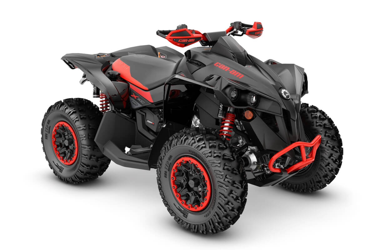 Renegade 1000R X xc ein ATV in Black mit Can-Am Red von Can-Am - Modelljahr 2020 - 0005VLB00