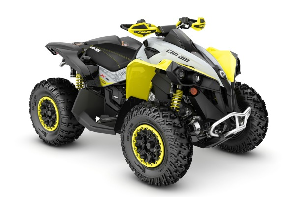 Renegade 650 X xc ein ATV in Black mit Gray & Sunburst Yellow von Can-Am - Modelljahr 2020 - 0004ULB00