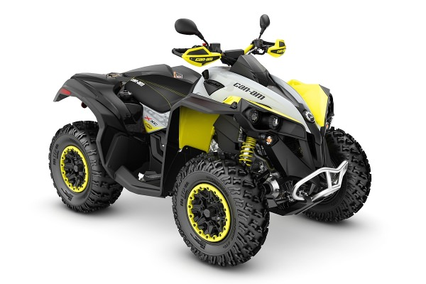 Renegade 650 X xc T ein ATV in Black mit Gray & Sunburst Yellow von Can-Am - Modelljahr 2020 - 0004ULA00