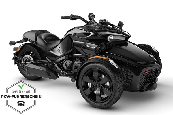 Spyder 1330 F3 ACE ein Roadster in Steel Black Metallic von Can-Am - Modelljahr 2020 - 000E5LB00