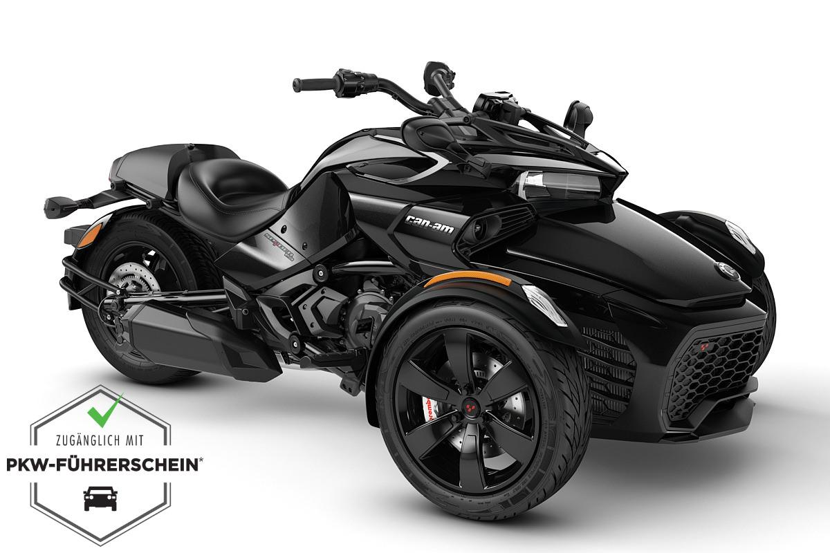 Spyder 1330 F3 ACE ein Roadster in Steel Black Metallic von Can-Am - Modelljahr 2020 - 000E5LB00