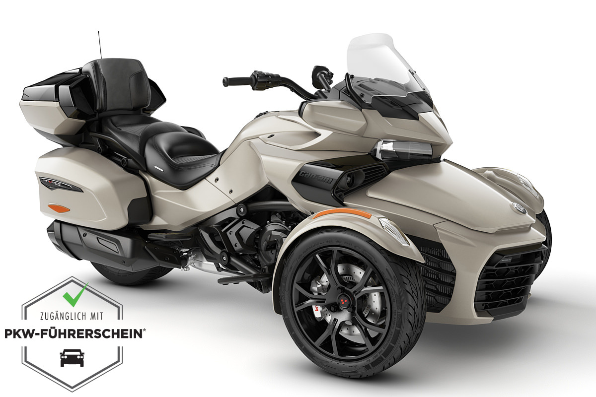 Spyder 1330 F3 Limited ACE ein Roadster in Liquid Titanium (Dark) von Can-Am - Modelljahr 2020 - 000H8LE00