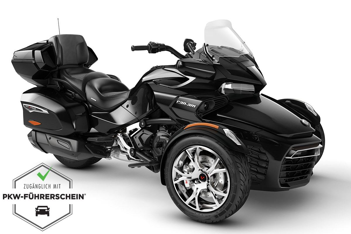 Spyder 1330 F3 Limited ACE ein Roadster in Steel Black Metallic (Chrome) von Can-Am - Modelljahr 2020 - 000H9LJ00