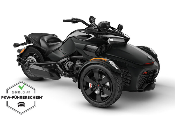Spyder 1330 F3 S ACE ein Roadster in Monolith Black Satin von Can-Am - Modelljahr 2020 - 000E6LC00