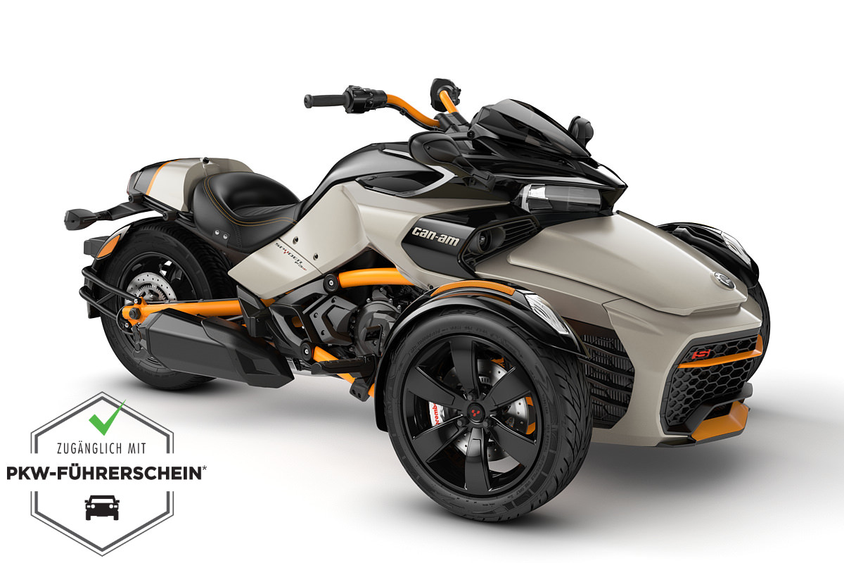 Spyder 1330 F3 S ACE ein Roadster in Liquid Titanium - Special series von Can-Am - Modelljahr 2020 - 000E6LH00