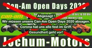 Corona - Can-Am Open Days 2020 abgesagt.