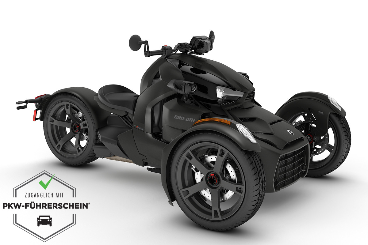Ryker 600 ACE ein Roadster in Carbon Black von Can-Am - Modelljahr 2020 - 000F1LB00