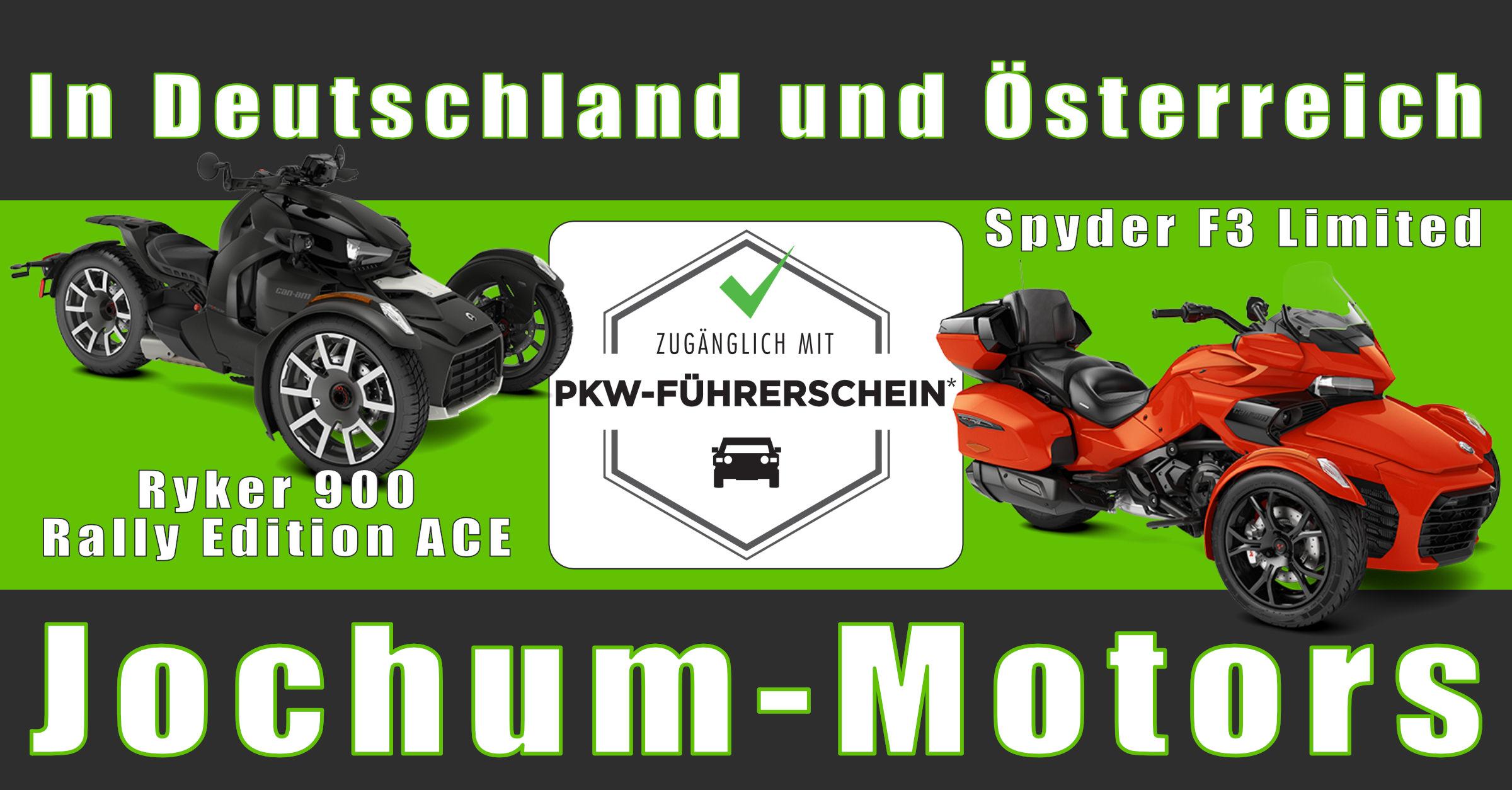 Can-Am Spyder/Ryker mit PKW-Führerschein fahren.