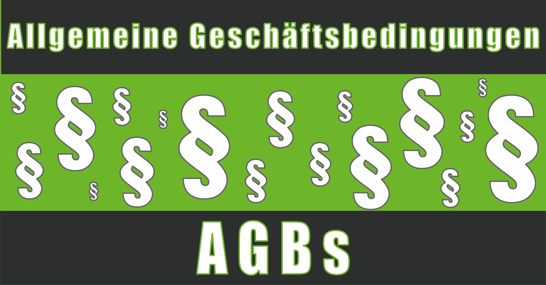 AGBs- Allgemeine Geschäftsbedingungen