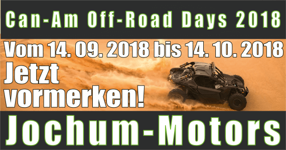 Can-Am Off-Road Days 2018 bei Jochum-Motors