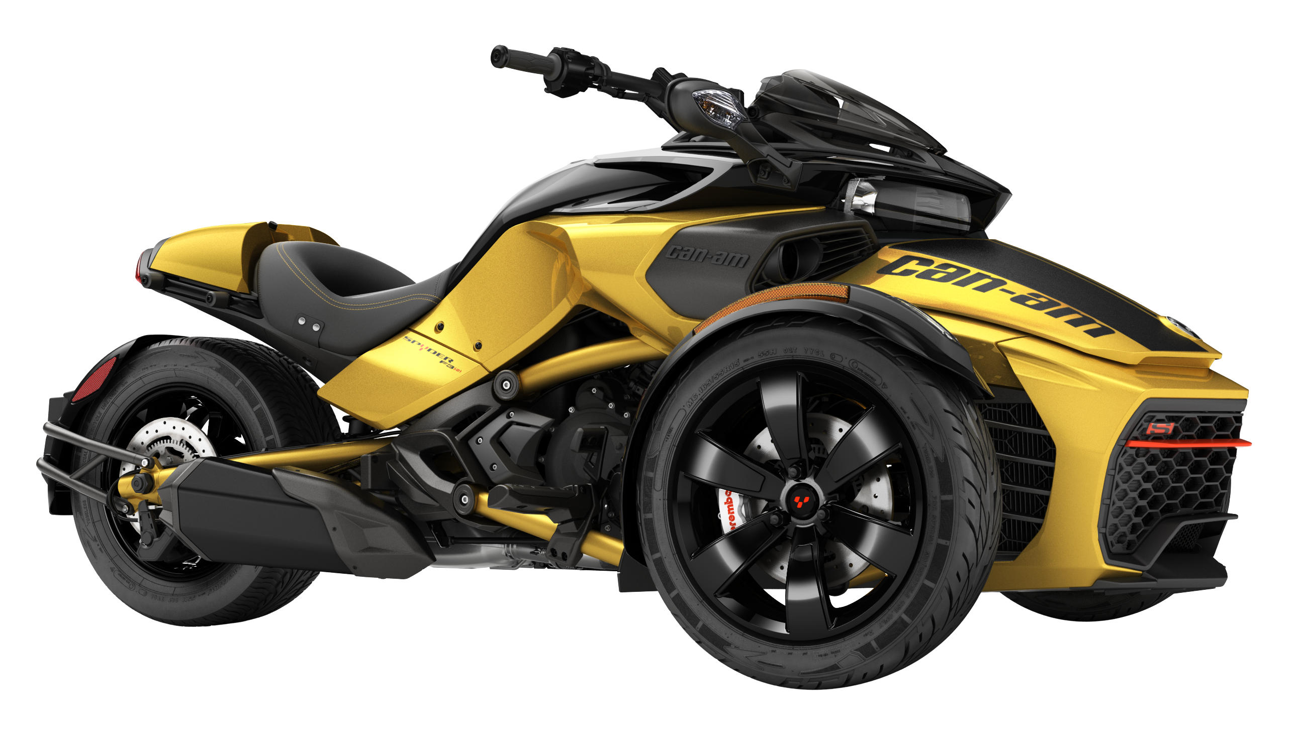 Can-Am Spyder F3 S Daytona Circuit Yellow Metallic