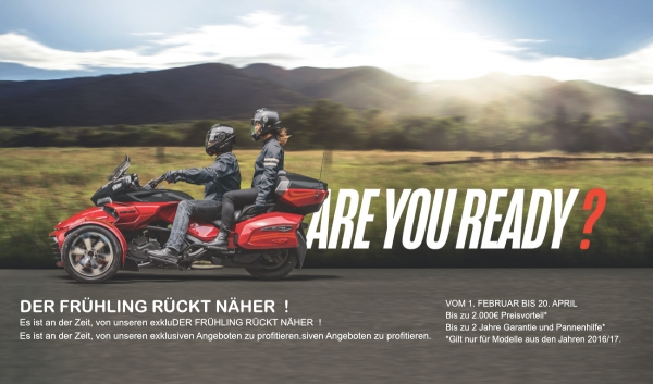 Can-Am Spyder Fruehlings Promotion