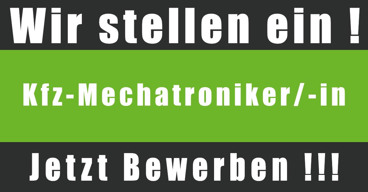Kfz-Mechatroniker - Jetzt bewerben